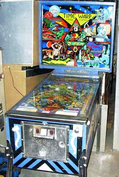time warp pinball machine for sale